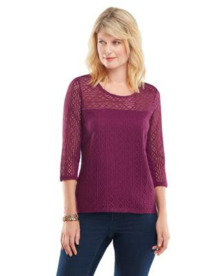 Amanda Green - Crochet Lace Top