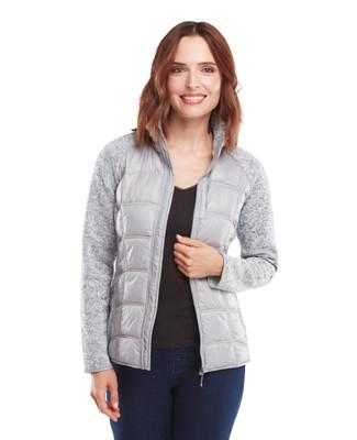 Melange Knit Quilted Jacket