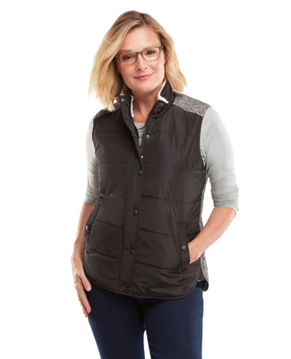 Quilted Mixed Vest