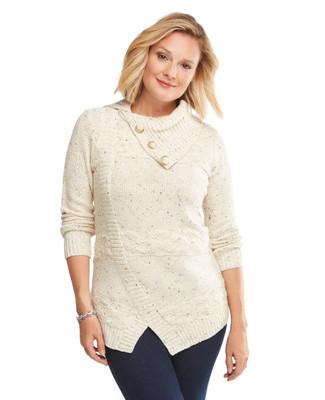 Textured Asymmetrical Sweater