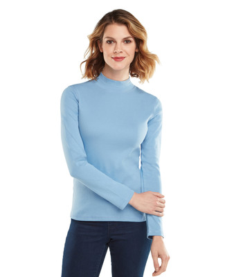 Solid Long Sleeve Mockneck