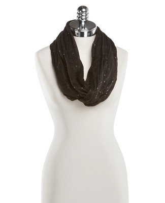 NEW - Black Sequin Infinity Scarf