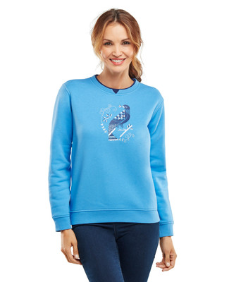 NEW - Mosaic Travel Bird Graphic Sweatshirt