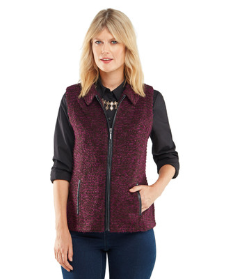 NEW - Textured Boucle Vest