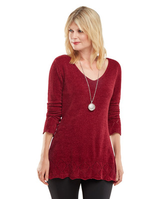 NEW - Pointelle Chenille Tunic