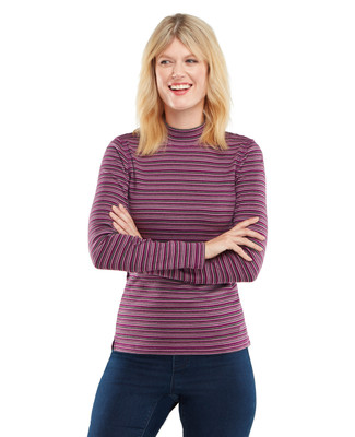 NEW - Long Sleeve Mockneck with Stripes