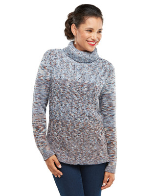 NEW - Multi Yarn Cable Turtleneck