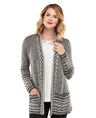 NEW - Nordic Jacquard Cardigan Topper