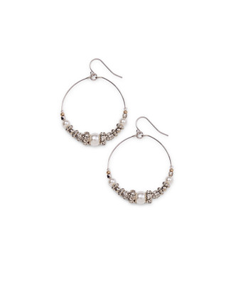 Hoop Mixed Beads Earrings