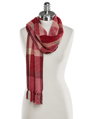 Chenille Plaid Classic Scarf
