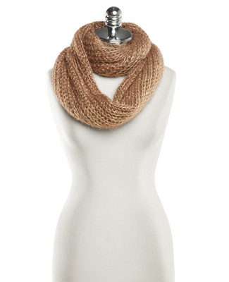 Cozy Knit Shimmer Scarf