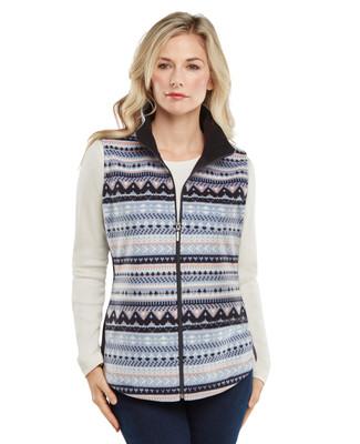 Bonded Jacquard Fleece Vest