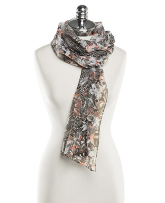 NEW - Printed Stitch Floral Scarf