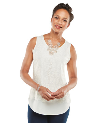 NEW - Lace Front Shell Top
