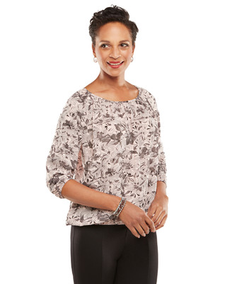 NEW - Petite Artfair Peasant Top