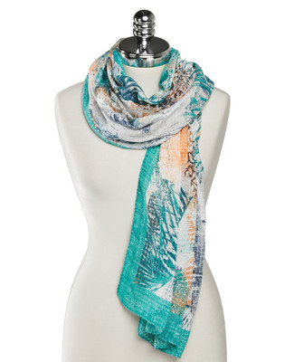 NEW - Textured Palm Leaf Scarf