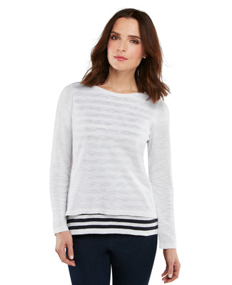 Double Layed Stripe Pullover