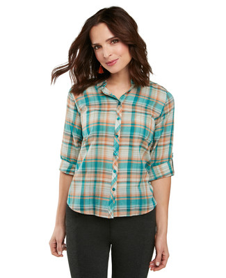Petite Yarn Dyed Plaid Shirt