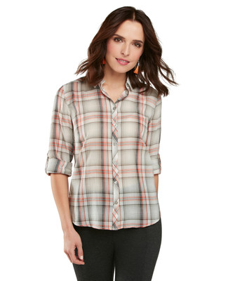 Soft Green Plaid Yarn Dye Shirt