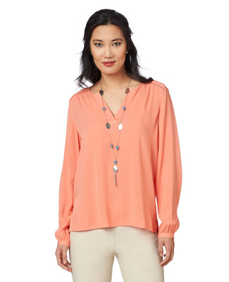 NEW - Textured Popover Blouse