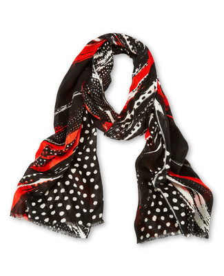 Dotted Diagonal Print Scarf