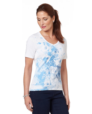 Watercolour Vision V Neck Graphic Tee