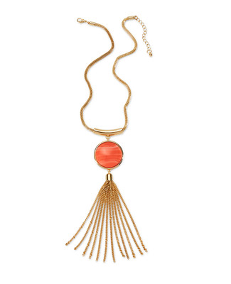 Tassel and Mesh Necklace
