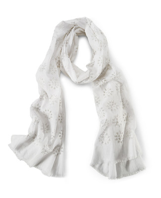 NEW - Floral Cutout Scarf