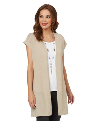 Knit Sleeveless Cardigan