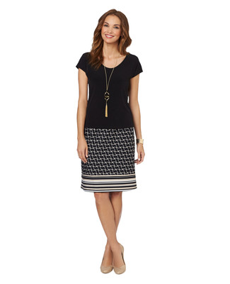 Geo Stripe 2pc Skirt set