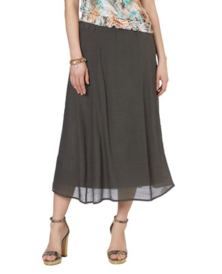 Long Textured Skirt
