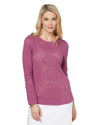 NEW - Circular Pointelle Pullover