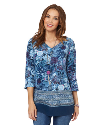NEW - Floral Border Tunic