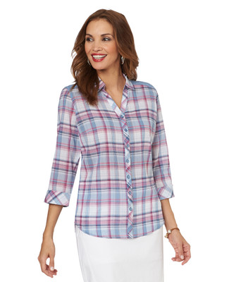 Plaid and Lace Shirt