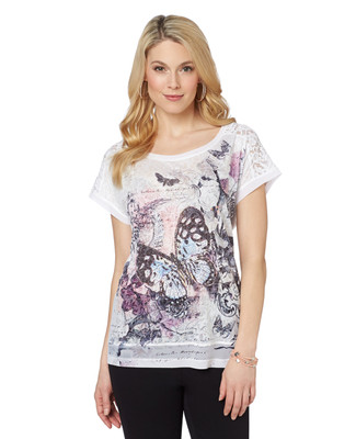 Butterflies and Lace Tee