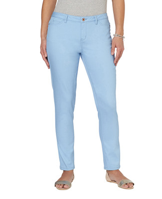 Stretch Slub Denim Ankle Pant