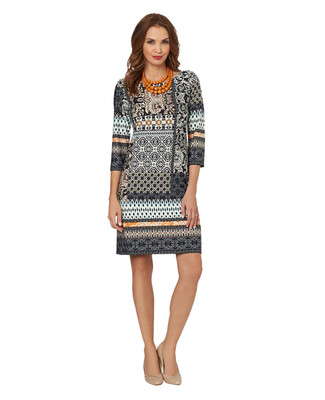Mosaic Patchwork Print Dress