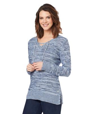 NEW - Lace Up Tunic Sweater