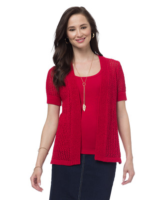 Pointelle Topper Cardigan
