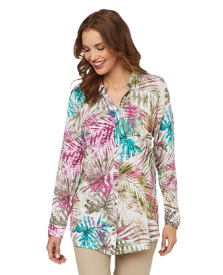 Palm Leaf Tunic Shirt
