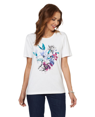 NEW - Blooming Floral Jersey Graphic Tee