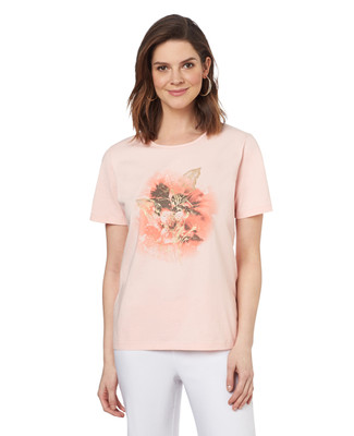 Faded Lily Jersey Graphic Tee