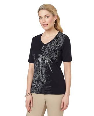 Tropical Scene Graphic Vneck