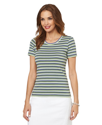 NEW - Stripe Scoopneck Tee