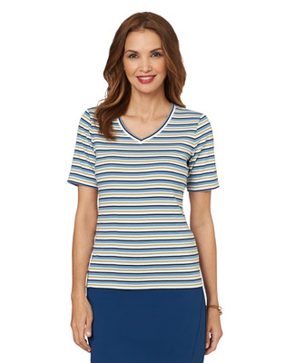 Stripe V-Neck Tee