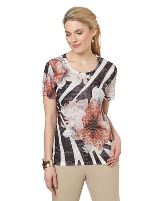 Lilies and Stripe Tee