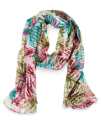 Bright Palm Leaves Scarf