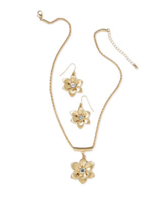 NEW - Golden Flower Necklace