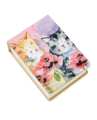 NEW - Cats and Poppies Sticky Notes
