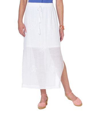 NEW - Embroidered Maxi Skirt